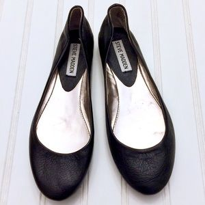 Steve Madden black leather Heaven ballet flats